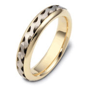 textured yellow gold wedding band